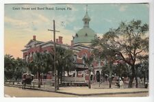[50615] 1914 POSTCARD COURT HOUSE & BAND STAND IN TAMPA, FLORIDA