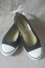 Converse All Star Dainty Lace Black  Ballerina Pump Slip on UK Size 5 / 38