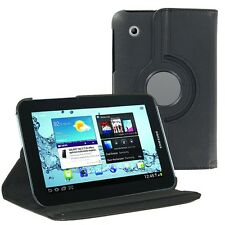 "Black 360 Rotating Folio PU Leather Case Cover for Samsung Galaxy Tab 2 7"" P3100"