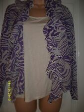 PURPLE AND CREAM   TOP FROM MARKS AND SPENCER, SIZE 16