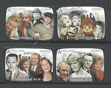 ˳˳ ҉ ˳˳NO14 Norway Norge Complete set 2010 different Year of Television Artists