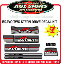 1986 - 1998 Mercury Bravo Two Outdrive Decal Kit   Mercruiser