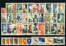 1954 FRANCE ANNEE COMPLETE TIMBRES POSTE xx