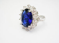 Kenneth Jay Lane Princess Simulated Sapphire Ring size 8 (QVC sold out)