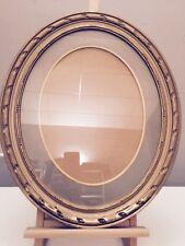 Magnifique Cadre Ovale Dore ancien 58x48cm