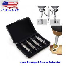 NEW USA 4PCS Damaged Screw Extractor Broken Bolt Drill Bits Easy Out Hand Tools