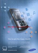 Samsung Soul Mobile Phone 2008 Magazine Advert #3172