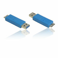 USB 3.0 SuperSpeed A Male to Micro B Male Adapter/Convertor/ Gender Changer BLUE