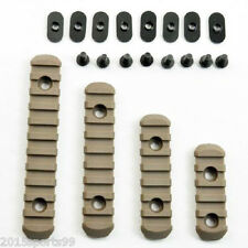 Tactical Rifle Tan Polymer Picatinny Weaver Rail Section Set for MOE Handguard *