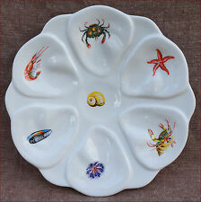 French Oyster Plate Porcelain Sea Life Starfish