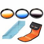 67mm Graduated Gradual color ND grey blue orange Lens filter kit CLEANING CLOTH