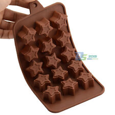 Silicone 15 Star Chocolate Cake Candy Baking Mould Ice Cube Soap Jelly Mold Tray
