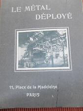 RARE CATALOGUE SUR LE MÉTAL POUR CONSTRUCTION PONT TUNNEL IMMEUBLE  ( ref 23 )