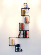 Industrial Retro Style DIY Iron Pipe Shelf Wall Mount Bookshelf Storage Shelving