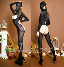 Body Stocking Nylon Kopfbedeckung Body Catsuit Reizwäsche Gr.S-XL WY082