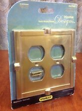 Stanley Hardware S804-500 Double Duplex Wall Plate Brass Satin Nickel Plated