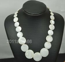 6mm Round bead 15-30 mm handmade Wafer Shell Necklace Gemstone  Beads earring
