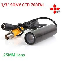 Long Range View Low Lux Security Mini Bullet Camera 700TVL, 25mm Lens, OSD