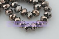 200pcs 6x4mm Wholesale Rondelle Faceted Crystal Glass Charms Loose Spacer Beads