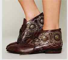 NEW ☮  Free People Jeffrey Campbell Distressed Brown Leather Ankle Boot ☮ Size 7