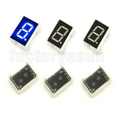 "10PCS Blue 7 Segment 0.5"" LED Single Digit Digital Display Common Anode"