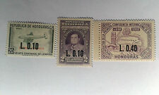 HONDURAS Overprints 1965-67 3 stamps mint** MNH