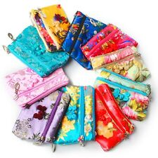 3PCS Chinese Pretty Silk Pouch Jewelry Gift Bag Wallet Coin Purse Random Color