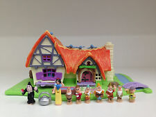 POLLY POCKET Vintage DISNEY Light UP Snow White & The Seven Dwarf *COMPLETE*