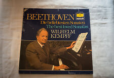 DG 2726042 Wilhelm Kempff/Beethoven Sonatas/2-LP Privilege Audiophile 1st Press
