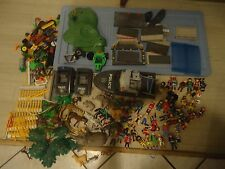 PLAYMOBIL Huge LOT Zoo Animals, Police,Vehicles,Figures,Fence, More!Great Pieces