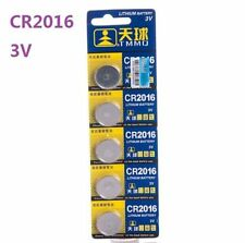 3V CR2016 DL2016 ECR2016 3 Volt Button Coin Cell Battery for CMOS watch toy x5 ☆