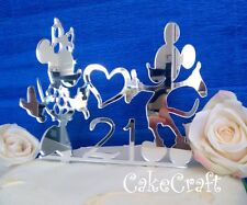 Acrylic Mickey Minnie Mouse Birthday, anniversary cake topper decorations