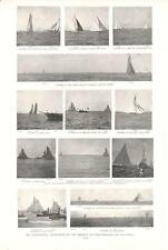 International Yacht Races for the America's Cup  -  Original Print  -   1893