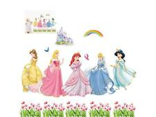 PRINCESS DISNEY WALL STICKERS PERSONALISE ART Decal GIRLS Mural VINYL HOME DECOR