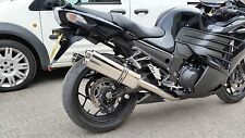 Kawasaki ZZR1400 2012 > Stainless Tri-oval Twin Outlet Road-Legal MTC Exhausts