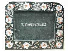 Green Marble Photo Frame Rare Mother of Pearl Gems Marquetry Inlay Gifts Decor
