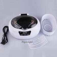 Digital Jewelry Glasses Watch Ultrasonic Cleaner Cleaning Machine 600ML 50W