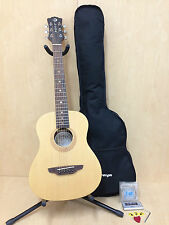 3/4 Size Safari Muse Travel Guitar - Spruce, Satin Natural w/Free Gig Bag,Picks