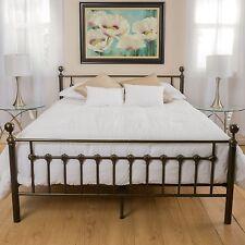 Bedroom Furniture Queen Size Iron Metal Bed in Dark Copper Gold