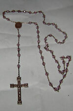 Vintage 59 Bead Sterling Silver And Amethyst Bead  Rosary