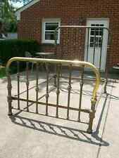 ANTIQUE DOUBLE BRASS BED