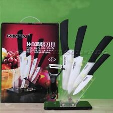 "Ceramic Knife Set 4""+5""+6""+7""+Peeler Inch Stand Kitchen Cutting Cutlery Sharp"