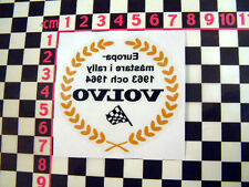 Classic Volvo Rally Glass Sticker PV544 P1800 P1800S Amazon P1900 122S GT