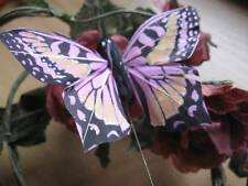 Pink Authentic Style Feather Butterfly - 8.0cm wingspan
