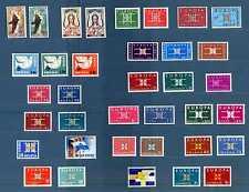 EUROPA C.E.P.T. - 1963 - ANNATA - Disegno geometrico con le lettere - (36 val.)
