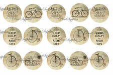 6x4 1 inch round bicycles prints for pendants bottle caps 2pcs cycling vintage