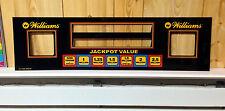 Williams EARTHSHAKER Pinball Machine Display Speaker Panel BRAND NEW REPLACEMENT