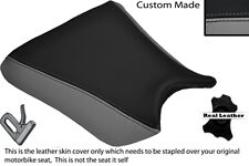 GREY & BLACK CUSTOM FITS KAWASAKI ZXR 250 88-91 FRONT LEATHER SEAT COVER