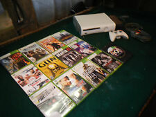 Microsoft Xbox 360 Pro White Console with 15 games