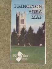 USA - Princeton, New Jersey, area map and information leaflet (folded sheet map)